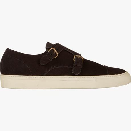 The Best Of Both Worlds:  Buttero Suede Double-Monk Sneaker