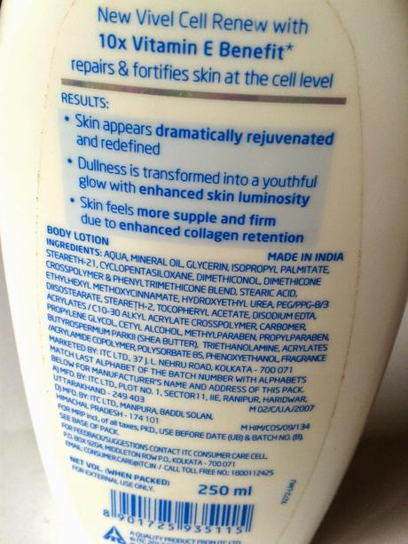 Vivel Cell Renew Fortify + Repair Body Lotion Review
