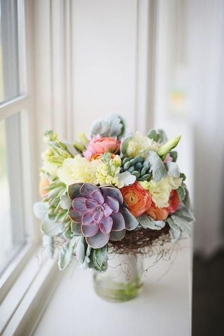 Fall Floral Arrangement With Succulents