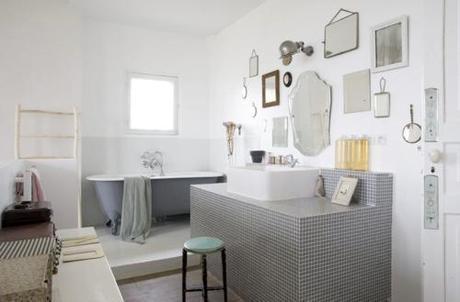 gray-mosaic-tile-vanity-island