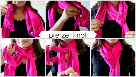ONE SCARF, FIVE WAYS- A PICTORIAL !