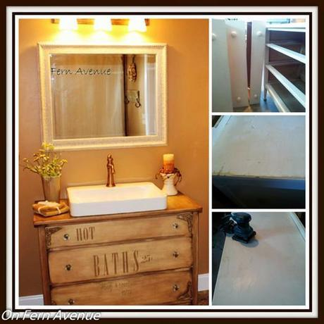 DIY Bath Cabinet Made from an Old Dresser