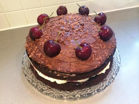 black forest cake easy dessert recipe chocolate cherry and cream gbbo