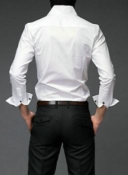 SlimOutlineDressShirtback mens fashion