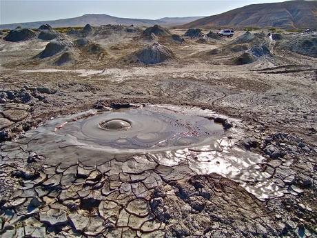 Mud volcanoes of Gobustan Azerbaijan