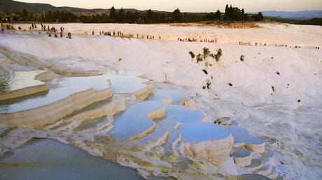 Travertine Pools at Pamukkale Turkey