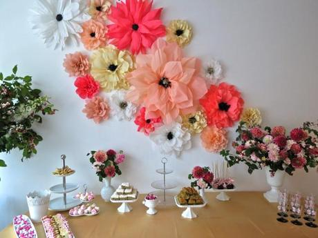 Paper Flower Wall For A Baby Shower Paperblog