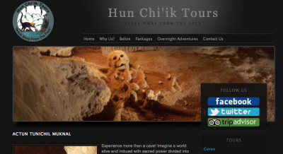 Hun Chi'ik Tours - the cool company we used to tour Actun Tunichil Muknal