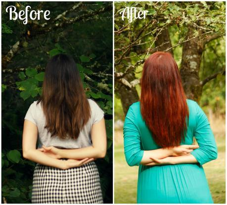 How to dye dark brown hair red without pre-bleaching | www.eccentricowl.com