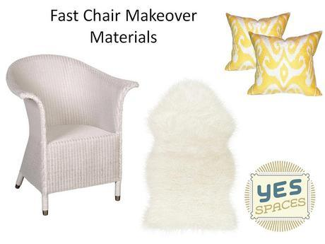 Fast Chair Makeover materials