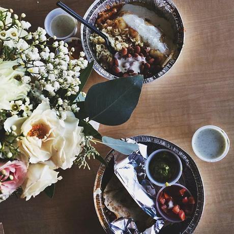 Friends, Flowers, and Food