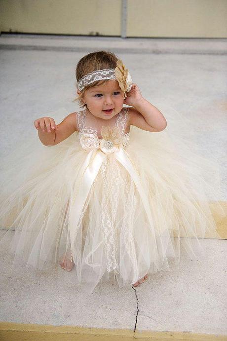 Adorable baby girl flower girl