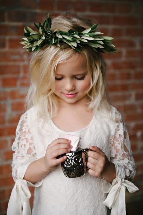 Boho lace flower girl