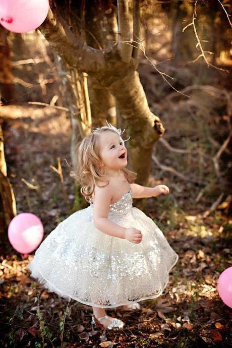 Sparkly Flower Girl Dress