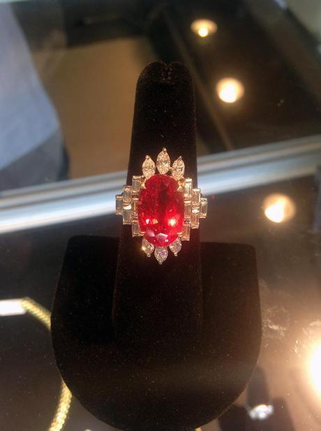 Jack Weir and Sons Ruby and Diamond Ring