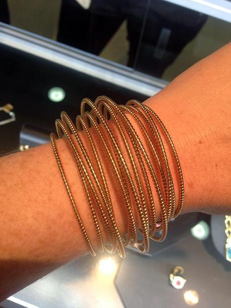 Rose Gold Bangle by SHerry Bender at the Goldsmith LTD