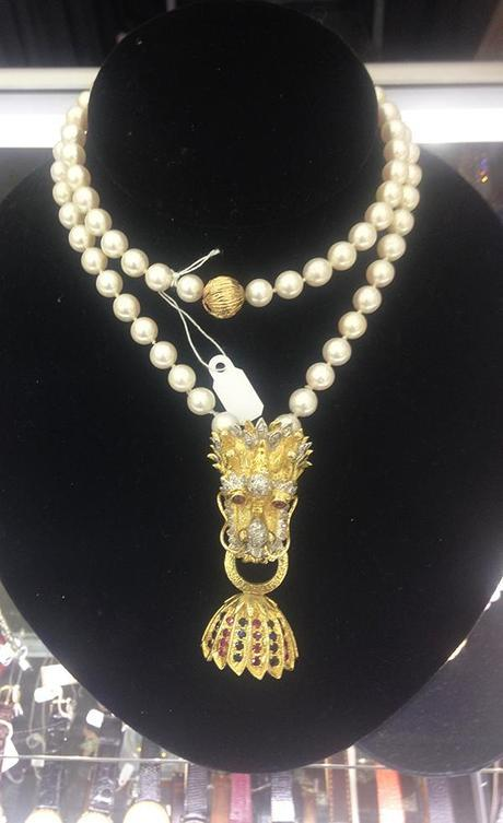 Antiques to Go CHinese Dragon Pendant on Pearls