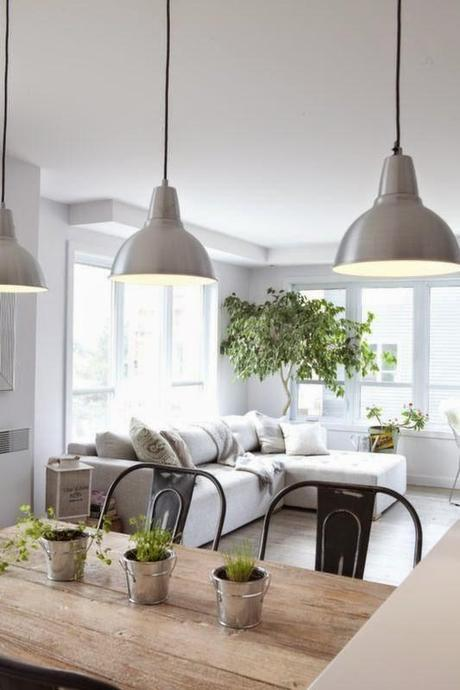 inspiration board   white interiors + green plants