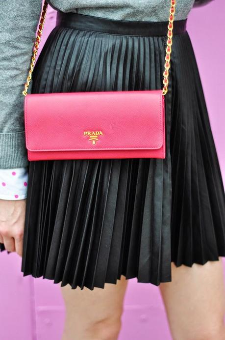 Forever21 pleated leather skirt
