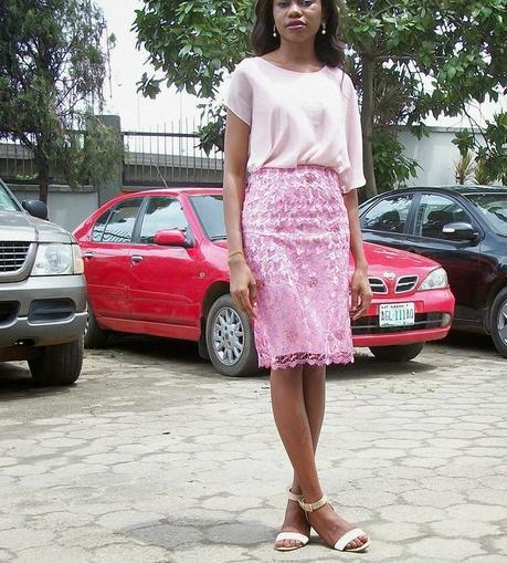 A Pink Lace Skirt