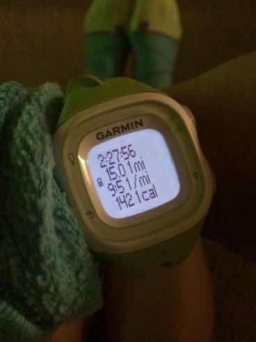 15 mile run garmin