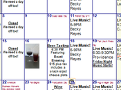 September 2014 Calendar Hoppin' Grapes Wine Beer Tasting Shop Retail Store
