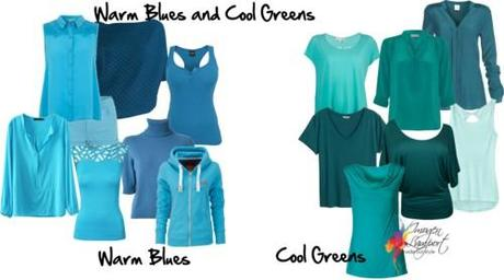 warm blues and cool greens