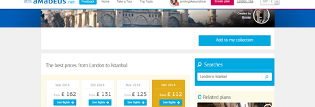 Planning my trip to Istanbul  with  Amadeus.net
