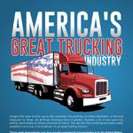 Economic Impact of Commercial Trucking In the USA Infographic