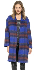 plaid coat, overcoat