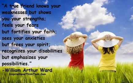 A true friend knows your weaknesses - Friendship Quotes, Friends Quotes Pictures