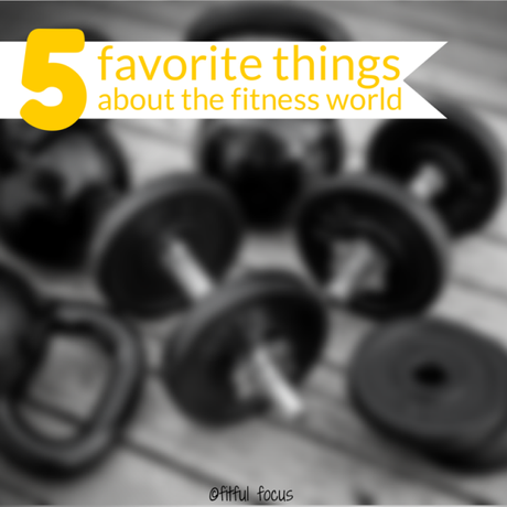 Five Favorite Things About the Fitness World via Fitful Focus
