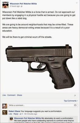 Armed Voter Intimidation in Wisconsin?
