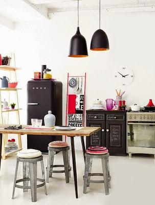 black smeg + light wood