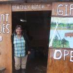 Dorothy, owner of Mainly Birch at the Yukon River Camp