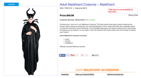 Disney Adult Maleficent Costume