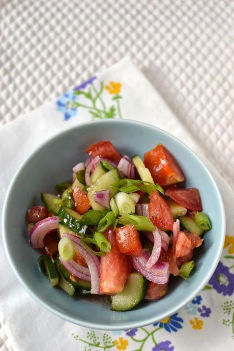 Russian Tomato & Cucumber Salad