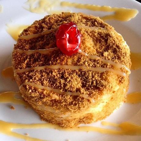 Cheese-something cake at Bastie's #coffeeshop. I forgot its name. Haha! #cake #surigao #coffee #cafe #wheretoeatinsurigao #philippines