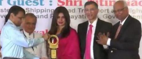 Actress Priyanka Chopra Honoured With Priyadarshini Academy Awards