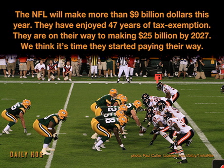 Sign the petition to Congress: Revoke the NFL's nonprofit status–http://wefb.it/4A7EDC