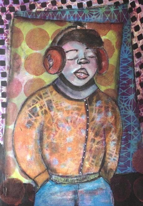 Listen - Mixed media art painting