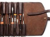 Vegetable Tanned Leather Tool Roll
