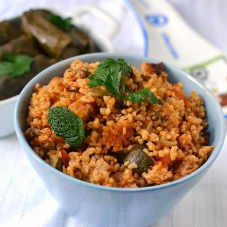 Turkish Bulgur Pilaf with Veggies