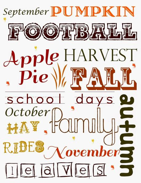 Celebrate Fall with a FREE Printable!!