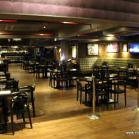 The restaurant interiors
