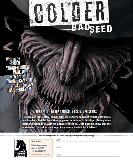Dark Horse Preview: COLDER: THE BAD SEED #1