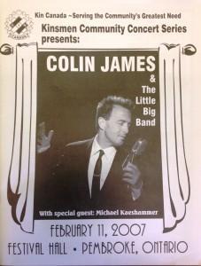 Colin James Kinsmen program