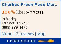 Charlies Fresh Food Market on Urbanspoon