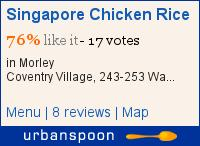 Singapore Chicken Rice on Urbanspoon