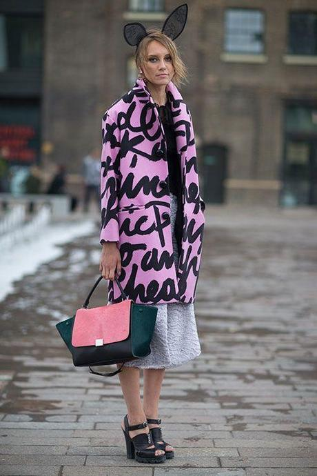 Style Right Now 21 Patterned Coats Street Style Paperblog